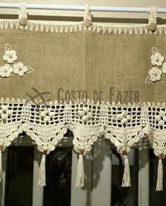 Crochet Curtains, Burlap Curtains, Curtains With Blinds, Crochet Doilies, Crochet Lace, Jute, Crochet Table Topper, Knitting Patterns, Crochet Patterns