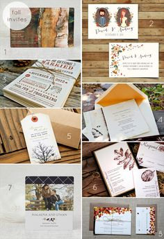 Planning a Fall Wedding - invitations! (via EmmalineBride.com)