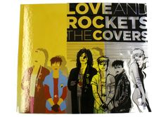Here you can see the clever clear jackets holds the black line art which completes the cover image for this Fantagraphics Book - Love and Rockets The Covers.
