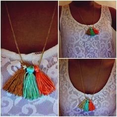 tassel necklace #DIY