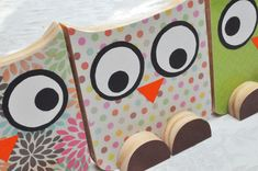 Making Wooden Owls - It's a HOOT! - One Project Closer - would make cute bookends