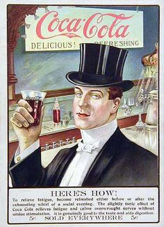 Vintage Ad for Coca-Cola 1907 Coca Cola Poster, Coca Cola Ad, Always Coca Cola, World Of Coca Cola, Logos Vintage, Vintage Labels, Vintage Ads, Vintage Posters, Vintage Signs
