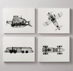 distinctive x-ray prints illuminate the inner workings of classic toys. #rhbabyandchild