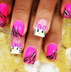 50 hello kitty nail designs life changing hello kitty nails and 20 cute hello kitty nail art designs page 3 of 20 beautyhihi prinsesfo Choice Image