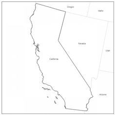 Printable California Map
