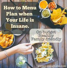 How to menu plan on a budget to create a healthy, varied diet for your family, when you're already LOSING YOUR MIND. :) Easy, right? WRONG.