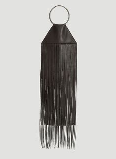 Kara black Fringe Pouch Bag in lamb leather, made in China. Shop now on LN-CC. Leather Fringe, Fringe Trim, Lambskin Leather, Black Leather, Kara Kara, Pouch Bag, Bag Sale, Bag Making, Purple