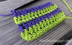 Fiber Flux...Adventures in Stitching: How To Change Colors on A New Row