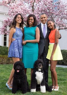 Obama Family Glossy Poster Picture Photo President Barack Michelle Kids 2352