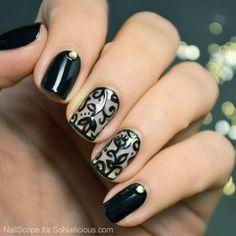 lace nail art 15 - 50+ Intricate Lace Nail Art Designs