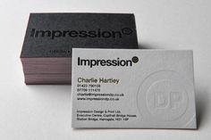 壓印名片設計。Impressions ↑↑ 厚重的紙質,透過壓印,就有特別又不失大方的名片