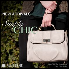 Be simply chic with the new arrivals that just hit the gallery! #simple #classy #chic #new #handbags #style #cute #sweet #fashion