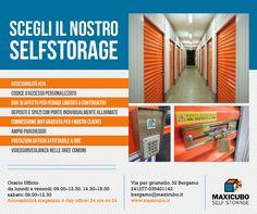 Perchè scegliere il nostro #Selfstorage? Per maggiori info o per richiedere un preventivo contattaci al numero 035401142 o scrivici a bergamo@maxicubo.it http://www.maxicubo.it/ #Maxicubo #Magazzini #Depositotemporaneo #Affittobox