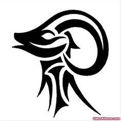 Tribal Aries Tattoo Design   Tattoo Viewer.com