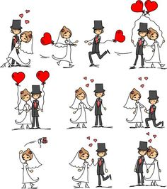 Find Set Wedding Pictures stock images in HD and millions of other royalty-free stock photos, illustrations and vectors in the Shutterstock collection. Thousands of new, high-quality pictures added every day. Cartoon Images, Cartoon Drawings, Easy Drawings, Wedding Agenda, Sketch Note, Holly Hobbie, Jolie Photo, Stick Figures, Heart Art