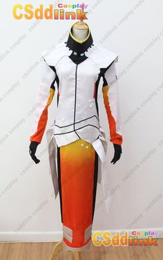 Overwatch Mercy Cosplay Costume white & orange - CSddlink cosplay