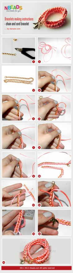 wrap Bracelet Instructions - Chain And Cord Bracelet – Nbeads