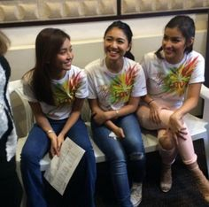 This is Kathryn, Nadine, and Liza having a good time together during the recording session of the 2015 ABS-CBN Christmas station ID.