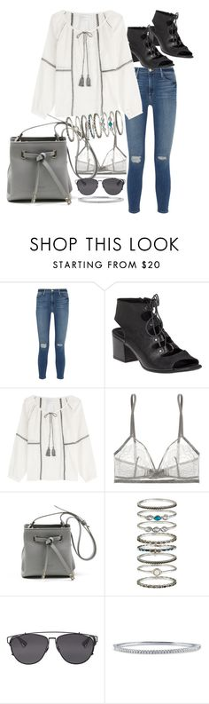 """""""Untitled #464"""" by el-khawla ❤ liked on Polyvore featuring Frame Denim, 275 Central, Velvet, Eres, Accessorize, Christian Dior and BERRICLE"""