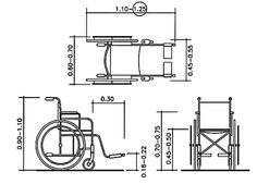 Wheelchair dimensions.