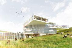 Gallery of BIG Breaks Ground on Faroe Islands Education Centre - 1