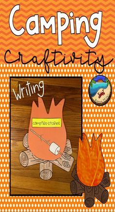 Camping Writing Fun for a classroom camping theme week. First Grade Projects, First Grade Activities, Easter Activities, Spring Activities, Writing Activities, Classroom Activities, Fun Activities, Classroom Ideas, Lined Writing Paper