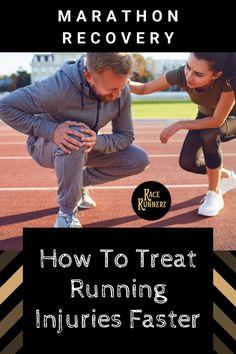 Tips on Treating Running Injuries Faster - RaceRunnerz First Marathon, Half Marathon Training, Triathlon Training, Marathon Running, Running Guide, Running For Beginners, Post Marathon Recovery, Running Injuries, Treadmill Workouts