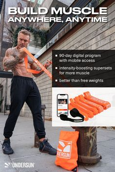 The Undersun Muscle Building Bundle comes with: ✅ TA2 Muscle Building Digital Program ✅ 5 Resistance Bands from X-Light to X-Heavy ✅ Free Door Anchor Read the amazing reviews and testimonials through the link. Strength Program, Strength Workout, Muscle Building Program, Free Weights, Resistance Band Exercises, Muscle Groups, On Set, Build Muscle, Workout Programs