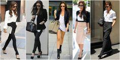 styl victorii becham biel i czerń Victoria Beckham, Capri Pants, Suits, Style, Fashion, Feminine Fashion, Women, Capri Trousers, Outfits