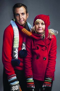 another cute idea for engagement winter with scarf wrapped around the couple