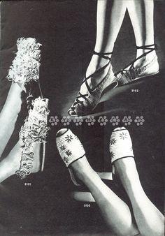 vintage 1944 crochet shoes pattern