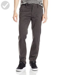 DC Men's Worker Straight Chino Pant, Dark Heather Grey, 28 - For all the skaters (*Amazon Partner-Link)
