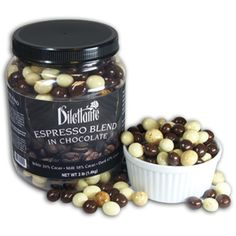 Chocolate Espresso Beans - We roast the coffee beans fresh, in-house! Gourmet quality white, milk and dark chocolate with crunchy coffee bean centers! by Dilettante Chocolate Fruits, Chocolate Flavors, Chocolate Covered Espresso Beans, Chocolate Coffee, White Chocolate, Coffee World, Coffee Life, Confectioners Glaze, Chocolate Shells