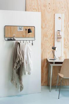 Leitmotiv Mirror-Me Spiegel/Kapstok - Grijs