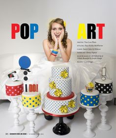 Pop Art Cakes by Sweet Cakes by Rebecca and Photo by True Love Photo