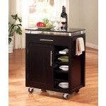 Coaster Furniture - Black Kitchen Island (Mobile Bar) - 910012  SPECIAL PRICE: $408.00