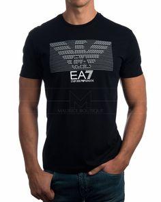 Camisetas Armani EA7 multi logo - Negra | Envío Gratis Polo T Shirts, Jean Shirts, Emporio Armani, Teen Fashion Outfits, Mens Fashion, Independent Clothing, Kids Suits, Men's Wardrobe, Mens Clothing Styles