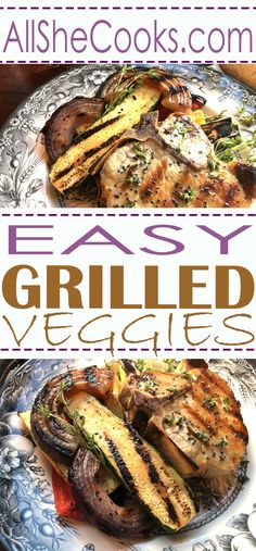 Learn how to make easy grilled veggies with this recipe. Healthy veggies are a great side dish for any summer meal.
