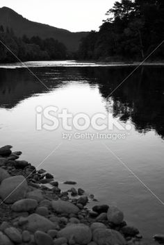 Last Light on the Buller River, Murchison, NZ Royalty Free Stock Photo