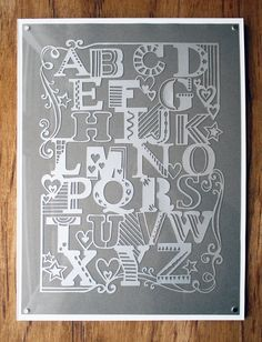 Silver Alphabet - Laser-cut from madebyjulene on Etsy