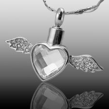 Soaring Heart Cremation Jewelry