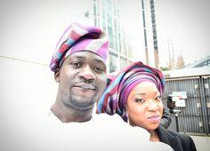 Husband and wife cold weather selfie.  #tradition #traditional #hisandhers #fila #gele #gettingmarried #omoyoruba #selfcamera #selfie by omo.olu