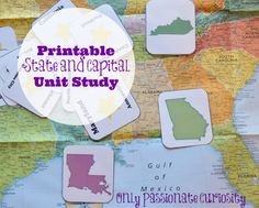 This FREE States and Capitals Unit Studyfrom Only Passionate Curiosity includes a flash card set which includes state images on one side, and th