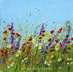 Splattered Paint Flower Art Ideas-Wild Flowers-myflowerjournal.com