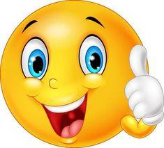 Illustrazione di Happy emoticon d� pollice in su isolato su sfondo bianco