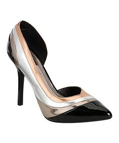 Black & Silver Sensuous Pump on #zulily