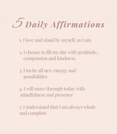 Positive Affirmations Quotes, Self Love Affirmations, Morning Affirmations, Affirmation Quotes, Positive Quotes, Gratitude Quotes, Positive Mindset, Motivacional Quotes, Words Quotes