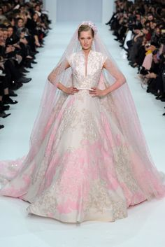 Elie Saab Spring Couture 2012…love! | ♥ pink & white perfection ♥