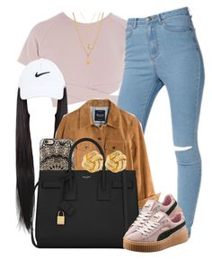 """""""Sans titre #556"""" by jilwayne ❤ liked on Polyvore featuring Asilio, Madewell, Casetify, Yves Saint Laurent, Puma, NIKE and Susan Shaw"""