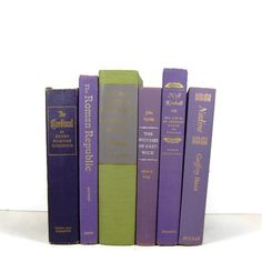 Purple Lavender Vintage Books for Photography